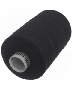 1 x 1000m Reel of Thread in Black
