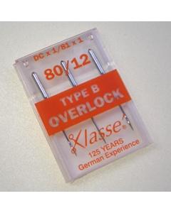 Overlock & Industrial needles type DCx1, 81x1 - Pack of 3