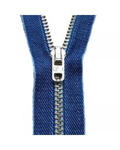 Jeans Zips In Denim Blue