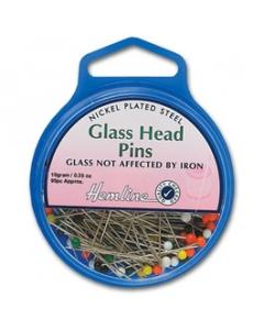 Glass head pins