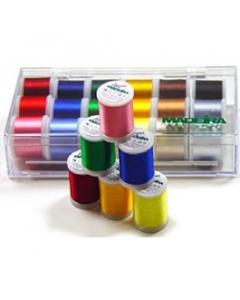 Maderia Rayon Thread Sampler Set of 18 threads